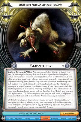 Sniveler card