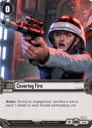 Cartes du Core Set Covering-fire