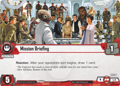 Cartes du Core Set Mission-briefing