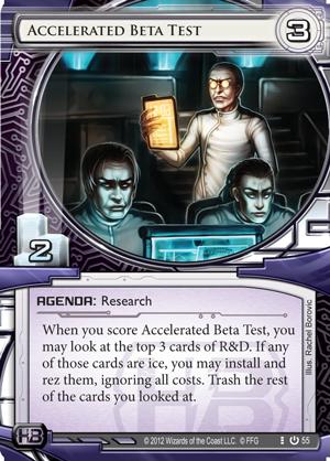 Exemple de carte : Accelered Beta Test