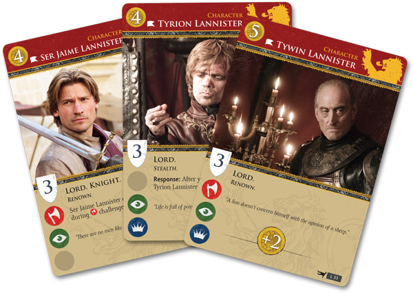 Game of Thrones: The Card Game (HBO) Lanister-card-fan