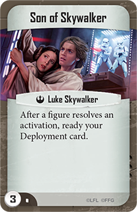 Son of Skywalker Imperial Assault skirmish command card for Imperial Assault skirmish beginner strategy guide.