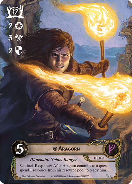 Image result for alt art aragorn lotr lcg