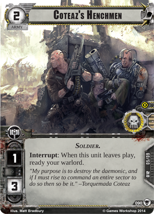 [Cycle Warlord] The Threat Beyond  - 5ème WarPack Coteazs-henchmen