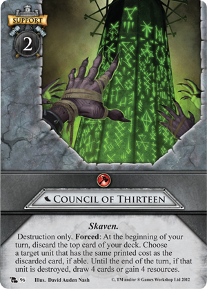 The council of thirteen respond to a portent of doom for Portent warhammer