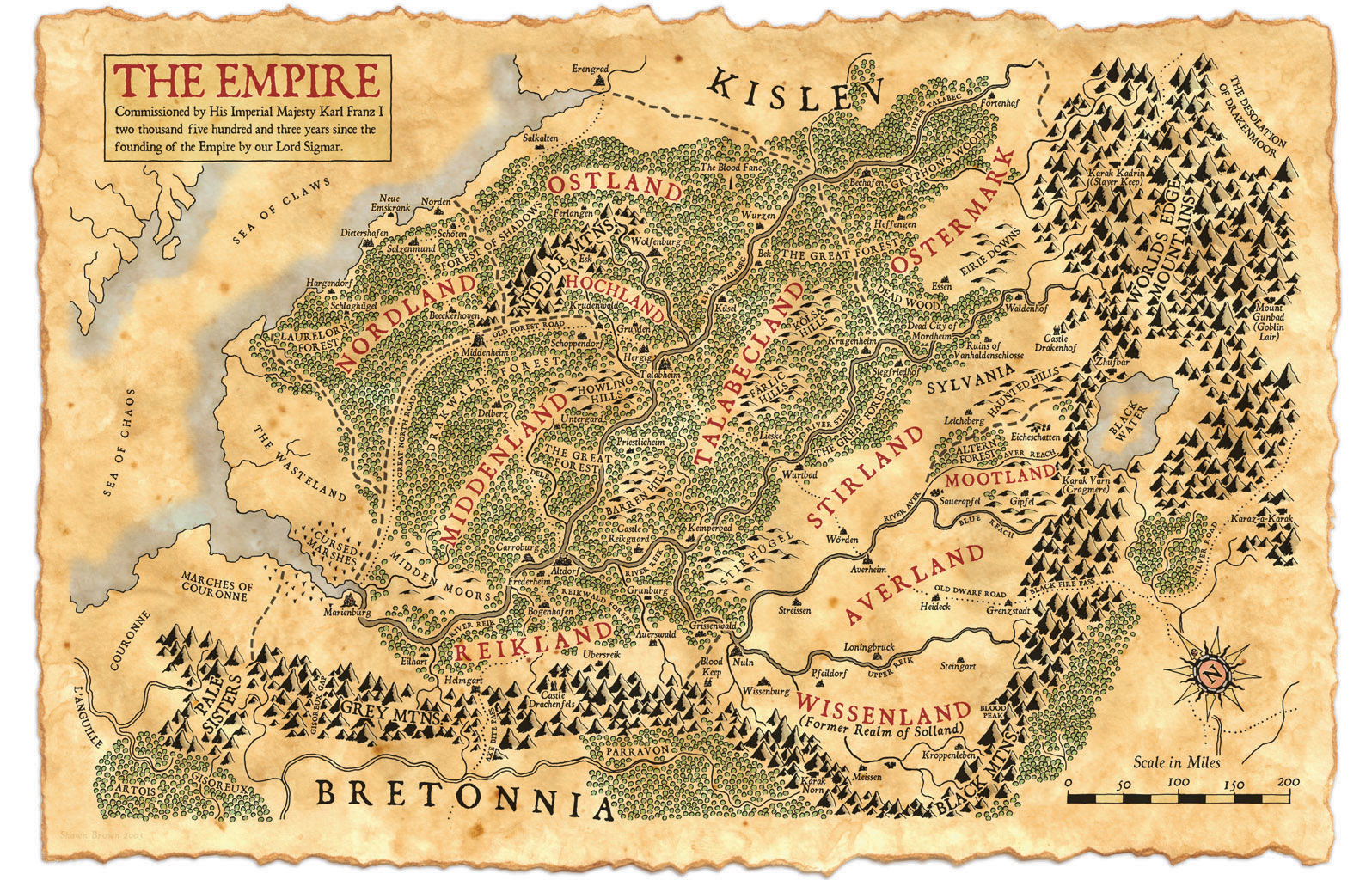Is there a map of the Wastelands anywhere? What are the two rivers ...
