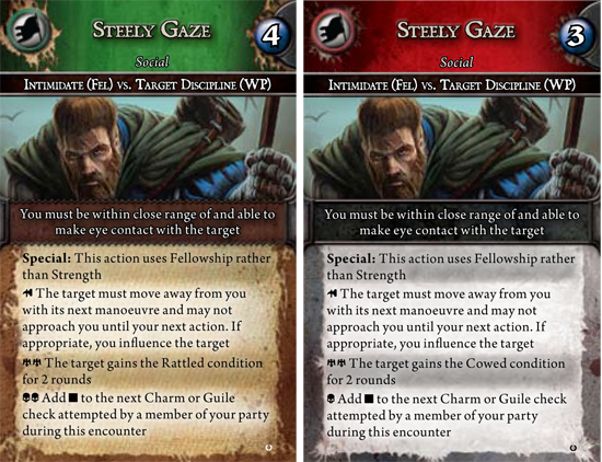 The Steely Gaze Action Card