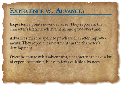 Experience Points and Advances