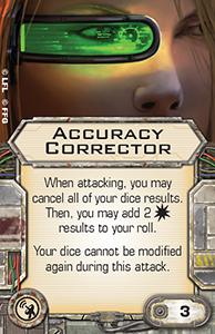 [X-wing] FAQ, erratas & Règles de tournois Accuracy-corrector