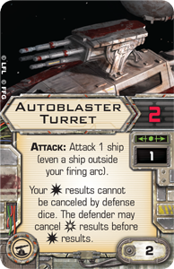 Wave VI - Scum and Villainy - NEWS !!! ONLY !!! Autoblaster-turret