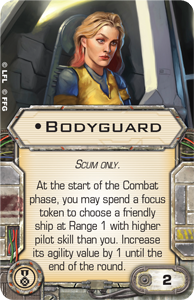 [X-Wing]Deutsche Aufrüstungskarten Übersicht Bodyguard