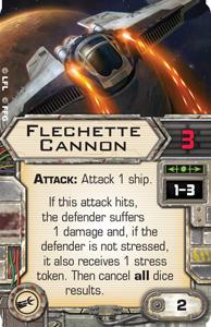 [X-Wing]Deutsche Aufrüstungskarten Übersicht Flechette-cannon