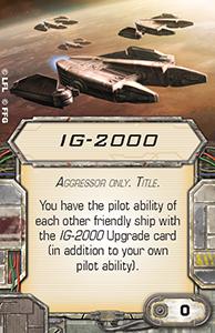 [X-Wing]Deutsche Aufrüstungskarten Übersicht Ig-2000