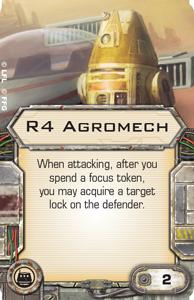 [X-Wing]Deutsche Aufrüstungskarten Übersicht R4-agromech