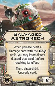 [X-Wing]Deutsche Aufrüstungskarten Übersicht Salvaged-astromech