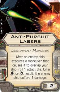 B-Wing, Lambda + Ausrüstung schon gesehen? Anti-pursuit-lasers