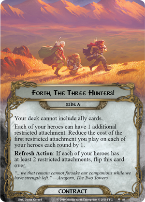 The City of Ulfast [cycle la vengeance du mordor, pack 2] Mec79_card_forth-the-three-hunters-a