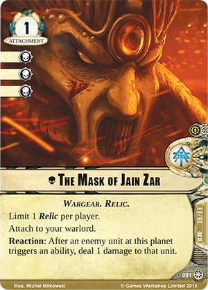 [Cycle Death World] Against the Great Ennemy : 5ème Warpack   Whk20_card_the-mask-of-jain-zar