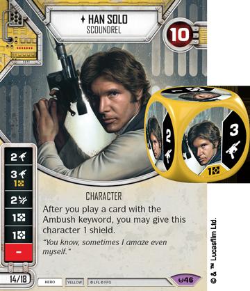 yellow Spirit of Rebellion Star Wars Destiny Dice 1x #059 Ascension Gun
