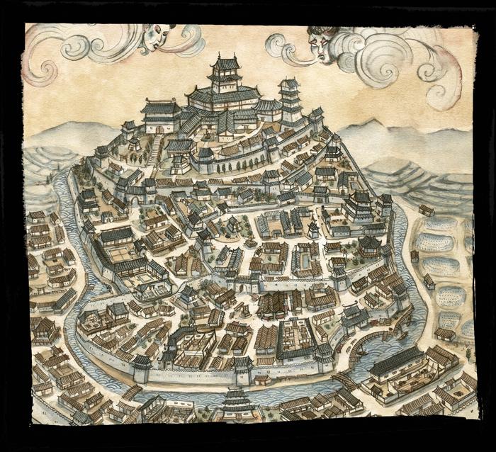 La Leggenda dei CInque Anelli - Mappa Castello Impero di Smeraldo