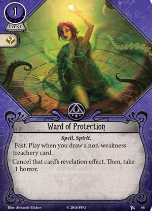 ahc01 card ward of protection EnGarde - Vaidmenų Žaidimai