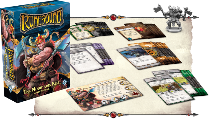 Runebound 3rd Edition + The Mountains Rise + The Gilded Blade Bundle