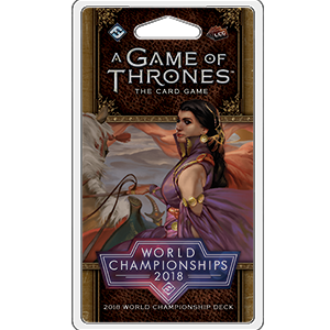 2018 Joust World Championship Deck: A Game of Thrones LCG 2nd Edition -  Fantasy Flight Games