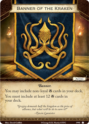 [JCE/LCG] Le Trône de Fer/A Game of Thrones 2nd Edition Banner-of-the-kraken