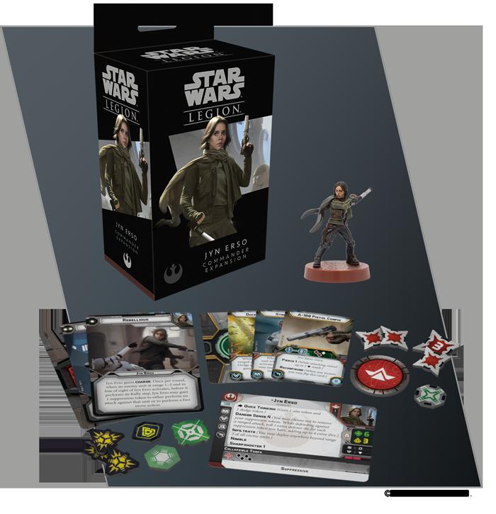 Star Wars Legion Rebellious Jyn Erso GenCon 2019 Promo Card