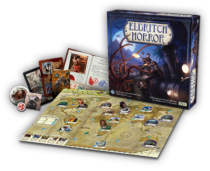 Image result for eldritch horror ffg contents