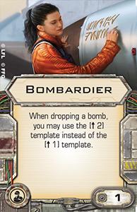 [X-Wing]Deutsche Aufrüstungskarten Übersicht Bombardier