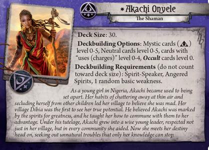 1x #004 akachi onyele - The Path to CARCOSA + Mini-Card Arkham Horror