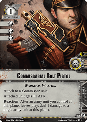 [Cycle Planetfall] Decree of Ruin - 1er WarPack Commissarial-bolt-pistol