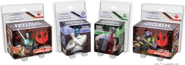 Star Wars: Imperial Assault - Rebels Ally and Villain Packs