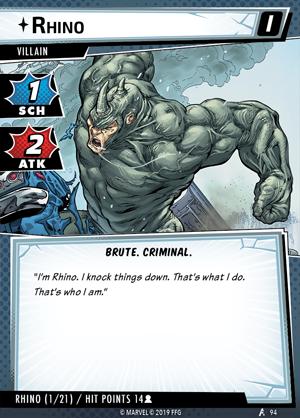 mc01en card rhino i EnGarde - Vaidmenų Žaidimai