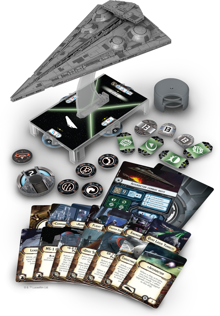 in armada the interdictor is a solid medium base starship