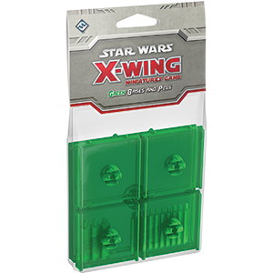 Green Bases and Pegs Accessory: X-Wing Accessory - Fantasy Flight Games
