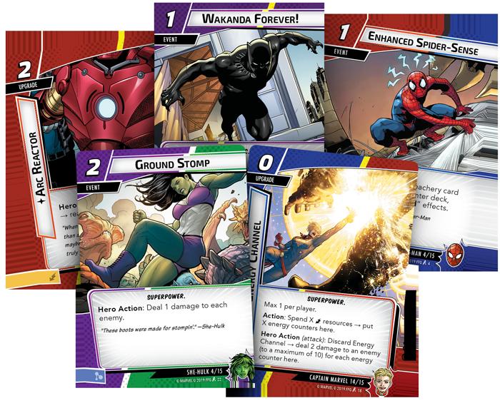 63pcs /'Core/' Set Marvel Champions /'HEROIC/' VERTICAL Dividers