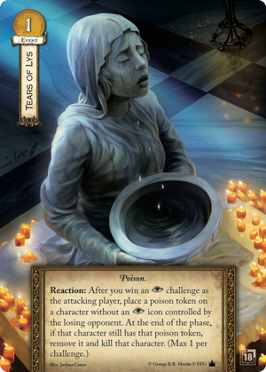 A Game Of Thrones 2nd Edition LCG Tears of Lys Alt Art