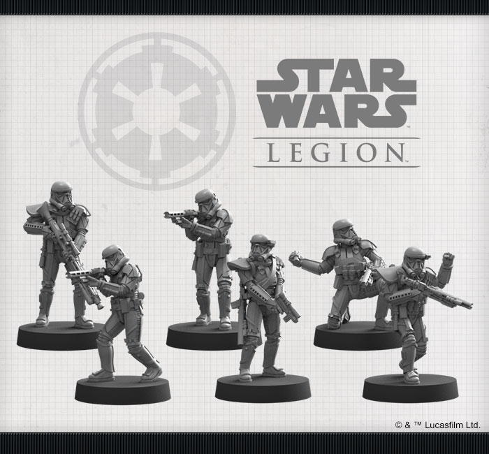 /></noscript></p> <p>Within the <em>Imperial Death Troopers Unit Expansion</em>, you'll find everything you need to add a squad of ruthless death troopers to your Imperial army. Six finely sculpted death trooper miniatures are accompanied by a unit card, an assortment of tokens, and an array of upgrade cards that give your death troopers access to even more advanced weaponry.</p> <p><strong>Rules</strong></p> <div> <div class=