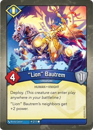 "Card image for ""Lion"" Bautrem"