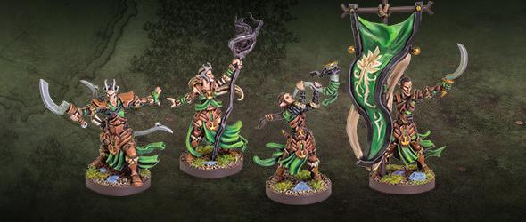 LAtari Elfes Infantry Command Unit Expansion-Runewars Miniatures Game