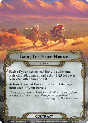 The City of Ulfast [cycle la vengeance du mordor, pack 2] Mec79_card_forth-the-three-hunters-b
