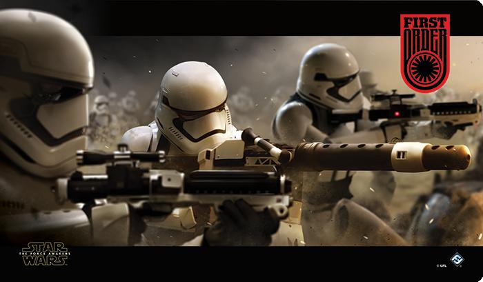 Muss wohl auch noch das Star Wars LCG anfangen... First-order-playmat