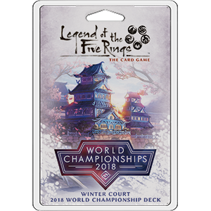 2018 Winter Court World Championship Deck: Legend of 5 Rings LCG -  Fantasy Flight Games