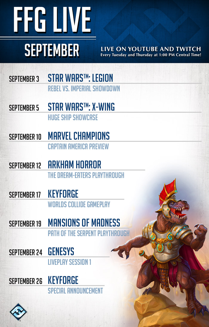 FFG Live in September - Fantasy Flight Games