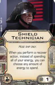 [X-Wing]Deutsche Aufrüstungskarten Übersicht Shield-technician