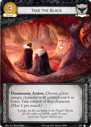 [JCE/LCG] Le Trône de Fer/A Game of Thrones 2nd Edition - Page 6 Take-the-black