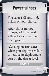 Threat Cost Timing w/ Powerful Foes, Nemeses Deck | Star
