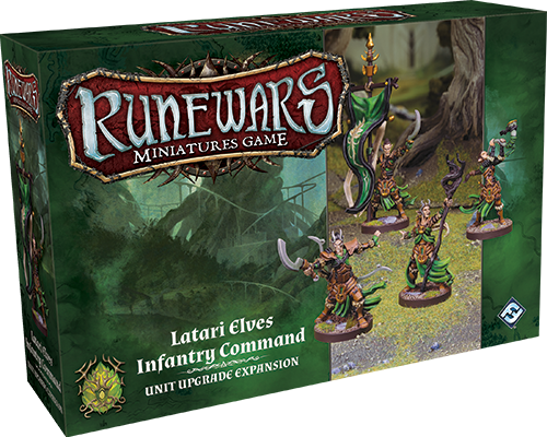 Runewars Miniatures: Latari Elves Infantry Command
